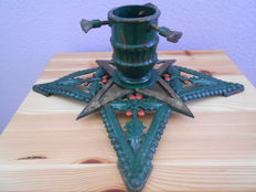 Large antique Christmas tree stand -the star 1920