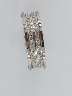 Chimento - 18 kt white gold ring, 6.60g, with diamonds for a total of 1.00 ct - size 14