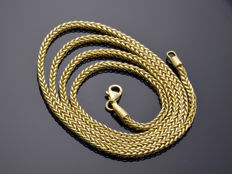 "18k Gold Necklace. Chain ""Wheat"". Length 49.5 cm"