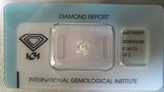 Beautiful 0.90ct cushion modified brilliant diamond - Sealed and certified through IGI