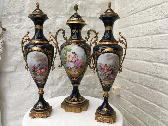 Set With Three Large Sevres Vases 60 Cm Catawiki