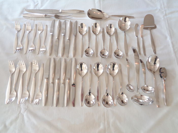 48 piece silver plated cutlery section, GERO, 2nd half of the 20th century