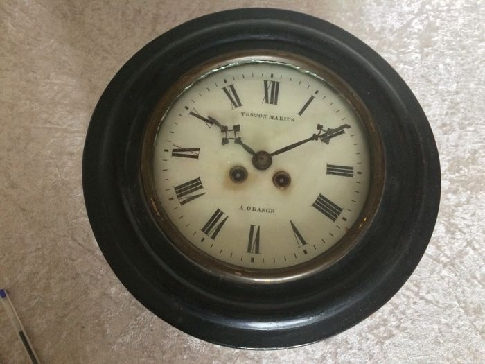 Wall clock from France - Period late 19th century.