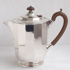 Antique Silver Plated Coffee Pot, Harrods London England, Late 19th Century