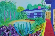 3 x David Hockney (after) - My Parents. Garden 2015 and Woldgate Woods