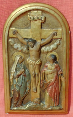 Crucifixion - Spanish School - 19th century