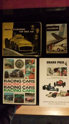 Racing cars (1966) Grand Prix data book (1995) Grote autorenners van onze tijd (1956) Volkswagen (Beetle) technische gegevens en praktische wenken (1961) DVD the world's Greatest F1 cars, The G.T. Autofolio collection Triumph TR4 . 5. 6 - eight Unique dea