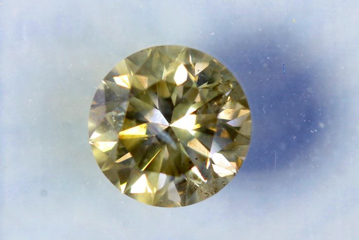 * NO RESERVE PRICE * - Diamant van 1.05 ct  - Fancy VIVID Greenish Yellow