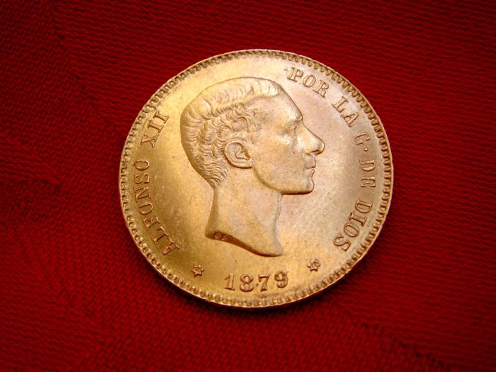 Spain - Alfonso XII - 25 pesetas gold - 1879 - Madrid. EM-M