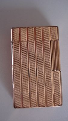 S.T DUPONT lighter, Paris, France, gold plated, blank, 1978