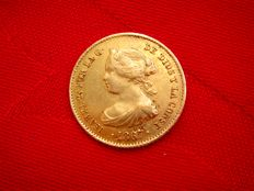 Spain - Isabel II (1833–1868), 4 escudos in gold - 1867 - Madrid