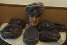Lot Winter hats NVA with emblem