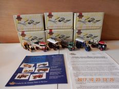 Matchbox - Scale 1/43 - Lot with 6 models: YAS- 01 to YAS - 06 - Steam Powered Vehicle Collection part 1
