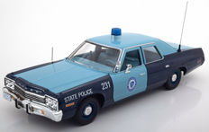 Ertl/Autoworld - Scale 1/18 - Dodge Monaco  Massachusetts State police 1974