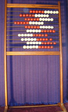 Large (140x70cm), old, free-standing Abacus, ca. 1950, brand Josco