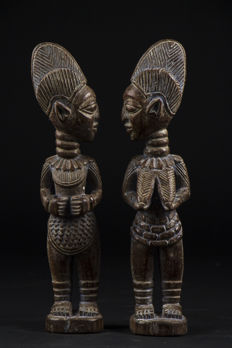 Couple of Ibedji or Ibeji Twins - YORUBA - Nigeria