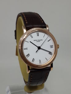 Patek Philippe Calatrava Hobnail Bezel 18k Rose Gold Automatic 3802 - Men's watch - 2010