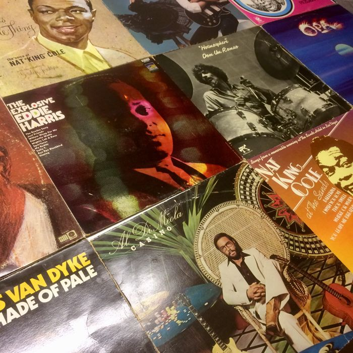 Lot of 13 albums - Jazz - Latin Jazz - Nat King Cole, Eddie Harris, Al Di Meola, Dom Um Romao and more