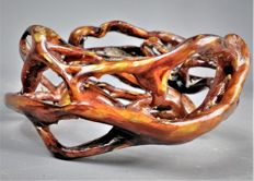Hand-made red AKAR BAHAR bangle,  Maluccas - Indonesia