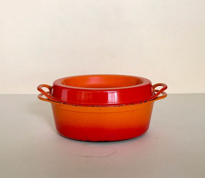 Doufeu Le Creuset, Made in France, enamelled cast-iron pot - Catawiki