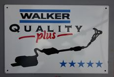 Enamel Sign WALKER Exhaust System - USA 1960ies? - 1980ies?
