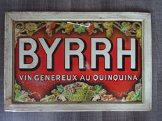 Old advertising BYRRH 1930 sheet metal lithograph Quinquina Bistro