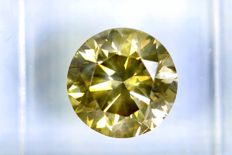 Fancy INTENSE Greenish Yellow -  2.80 ct - SI2 - ** NO RESERVE PRICE **
