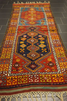 -Anatolia Kazakh Bergama- -made in Turkey- -110 x 280cm- -wool on wool-