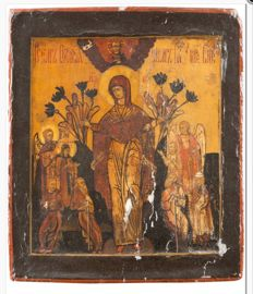 Russian icon - Mother of God consoler of the afflicted - 19th century