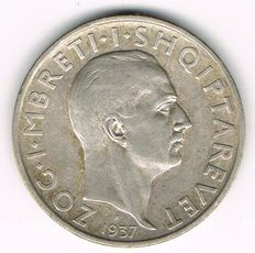 Albania - 1 Frang 1937 - silver
