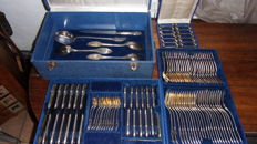 Boulenger silverware set, France, early 20th century