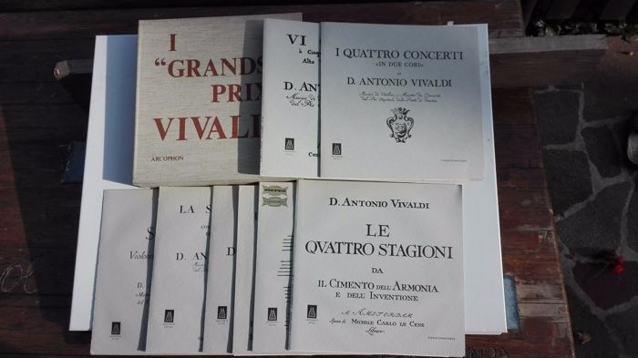 I Grands Prix Vivaldi Arcophon Ac/AM 687etc. 9lp box set 1969 + 11lp and 1 box set Orlando furioso