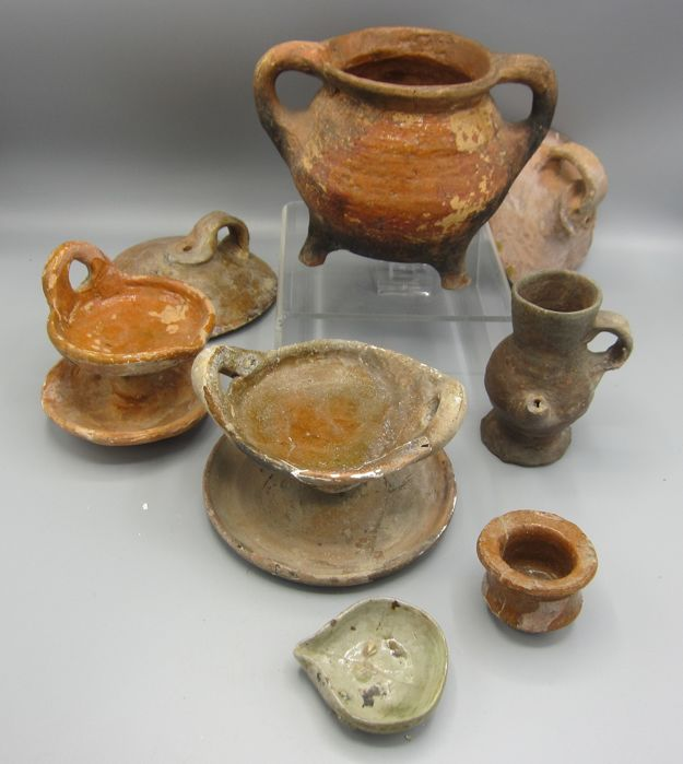 Lot with late-medieval utensils - (8) & Lot with late-medieval utensils - (8) - Catawiki