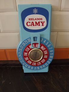 CAMY, Calendar and Barometer. Rare.of Helados.