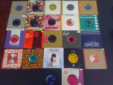 Rare Lot of 22 vintage 1960's vinyl single records 45 rpm, mixed music genres