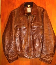 Timberland - 1930 style distressed motorcycle leather jacket - Very good condition