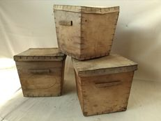 Old wooden crates - French containers for butter