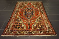 Beautiful old fine Persian carpet Mey Mey made in Iran 130 × 200 cm natural dyes cork wool