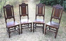 4 chairs, Ardèche, France, early 20th century