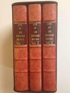 Madras; G.R. Gleig - The Life Of Major-General Sir Thomas Munro - complete in 3 volumes - 1830 / 1831