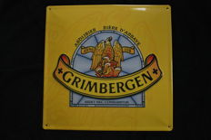 Grimbergen Abbey beer convex advertising sign in relief - 1990s