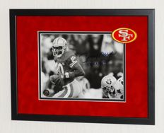 Jerry Rice original signed photo - Premium Framed + Jerry Rice certified
