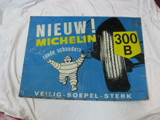 Michelin - large sheet metal advertising sign from 1959