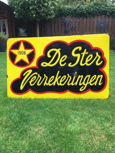 Nice old Enamel advertising sign of De STER verzekeringen.