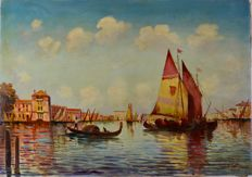 F Sterny (19th/20th century) - A pair of Venetian landscapes