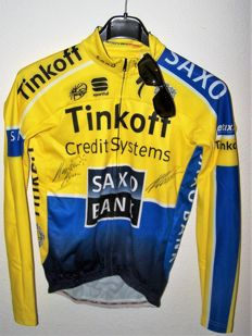 Training jersey Karsten Kroon, Team Tinkoff-Saxo 2014 + Zerorh sunglasses