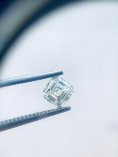 0.70ct  Asscher  Brilliant  H VS1  EGL USA - Low Reserve Price - #1915