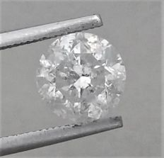 2.30 carat  - F color  - SI2 clarity  - Round Brilliant Cut Diamond  - With AIG Certificate + Laser Inscription On Girdle