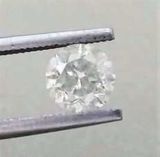 1.13 carat  - H color  - SI2 clarity  - Round Brilliant Cut Diamond   - With AIG Certificate + Laser Inscription On Girdle