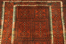Beautiful antique hand-knotted oriental carpet, Belutsch, 95 x 190 cm
